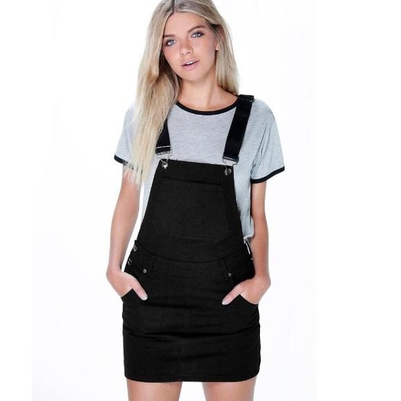 5283752c91 Boohoo Dresses   Skirts - Black Denim Overall Dress